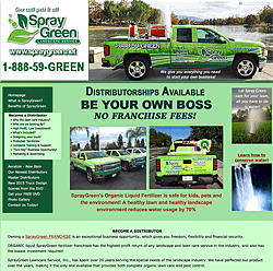 SprayGreen organic liquid fertilizer franchise